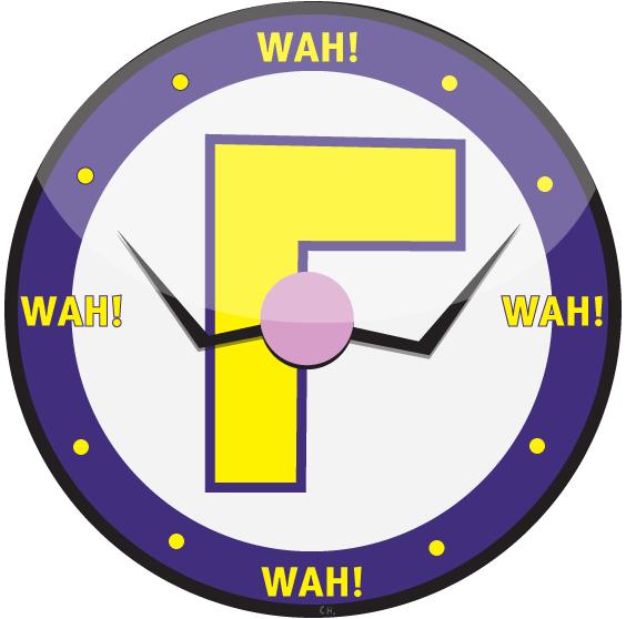 Clocks clipart purple. Waluigi time clock by