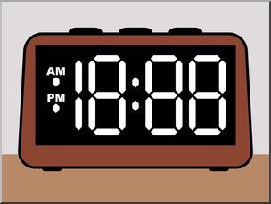 Clocks clipart rectangle. Clip art clock digital