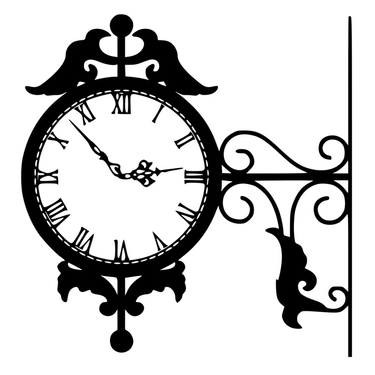 Clocks clipart silhouette. Free download best on