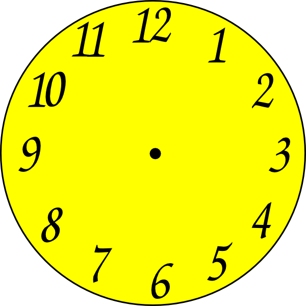 Clock clip art at. Clocks clipart yellow