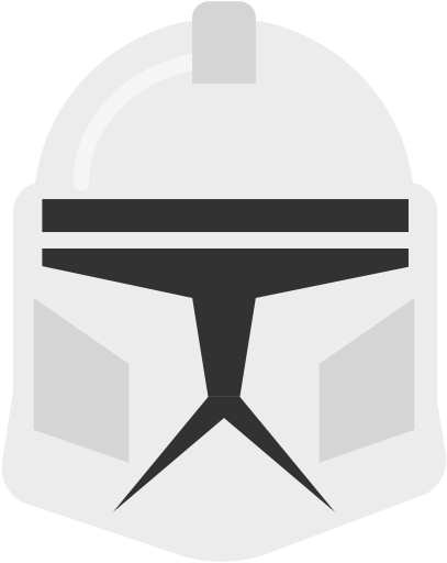 Clone trooper helmet png. Icon svg more whitesmoke