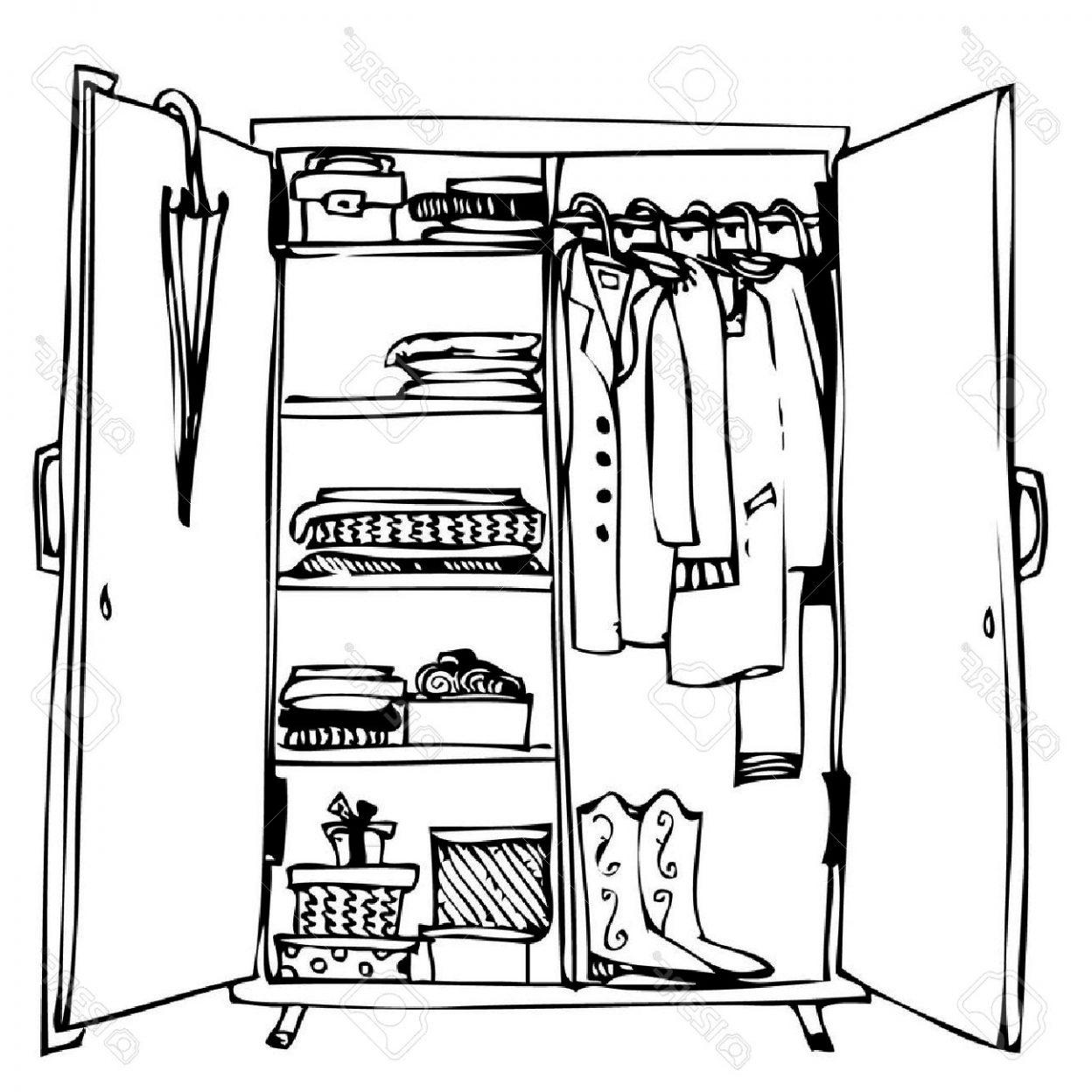 Closet clipart. Open attractive clip art