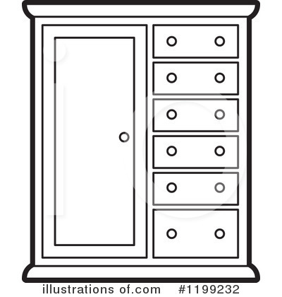 Cabinets illustration by lal. Furniture clipart almira