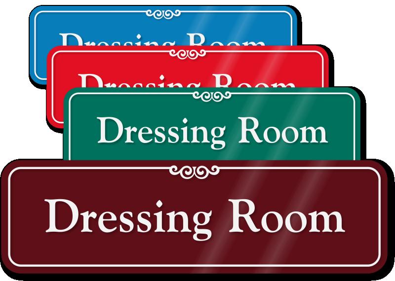 Closet clipart almirah. Dressing room door sign