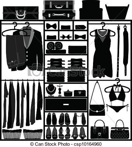 Closet clipart apparel clothing. Vector wardrobe cupboard man