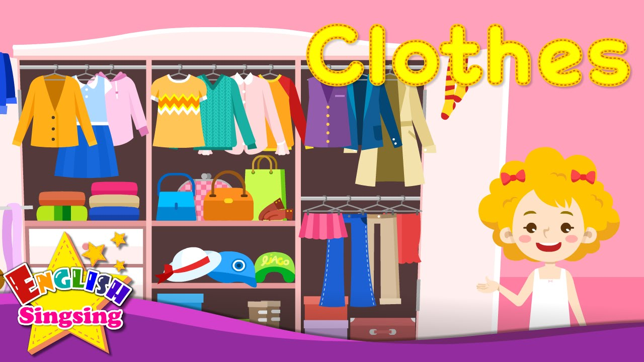 Kids vocabulary clothes learn. Closet clipart apparel clothing
