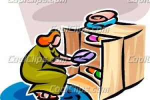 Closet clipart away. Girl putting clothes in