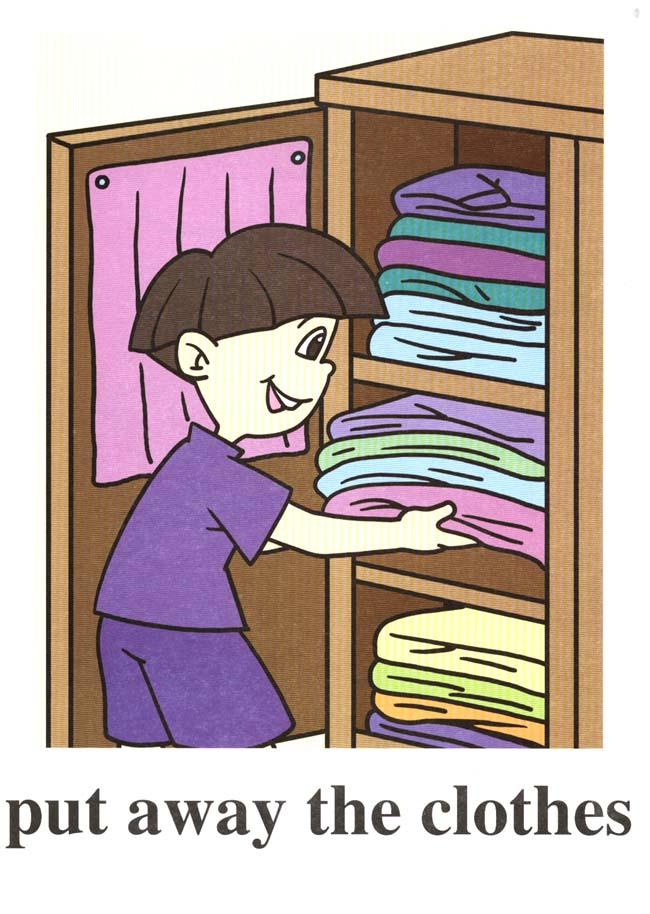 Closet clipart away. Put clean clothes clip