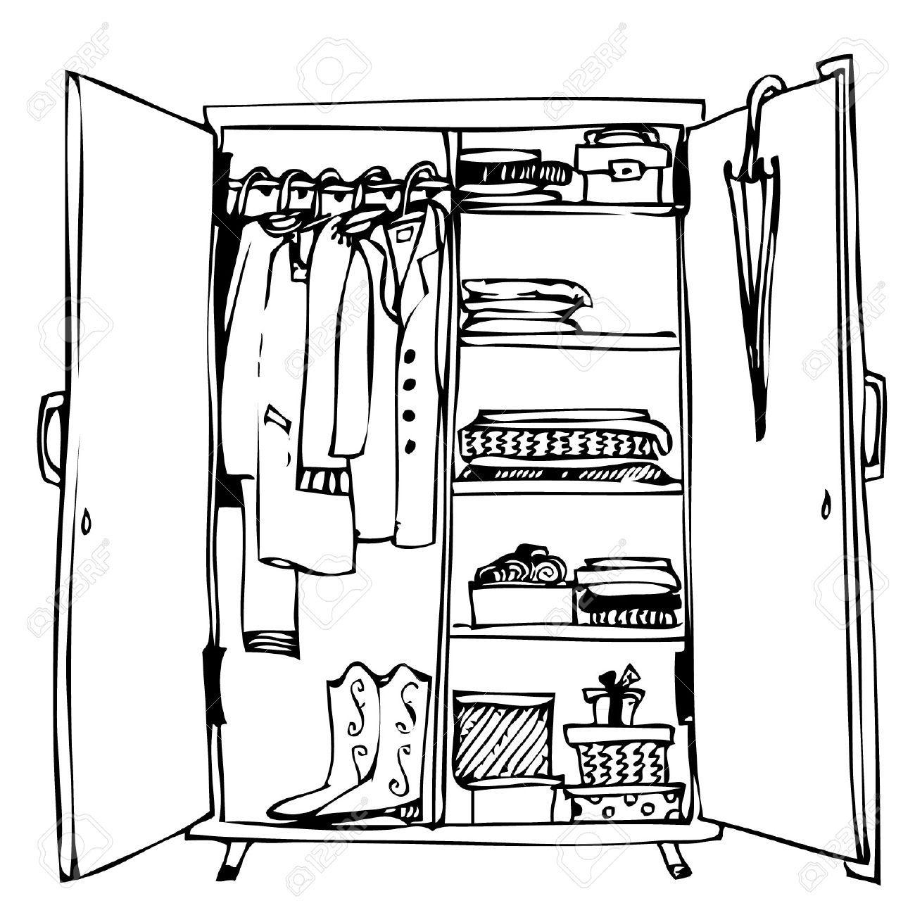 Closet clipart black and white. Wardrobe portal