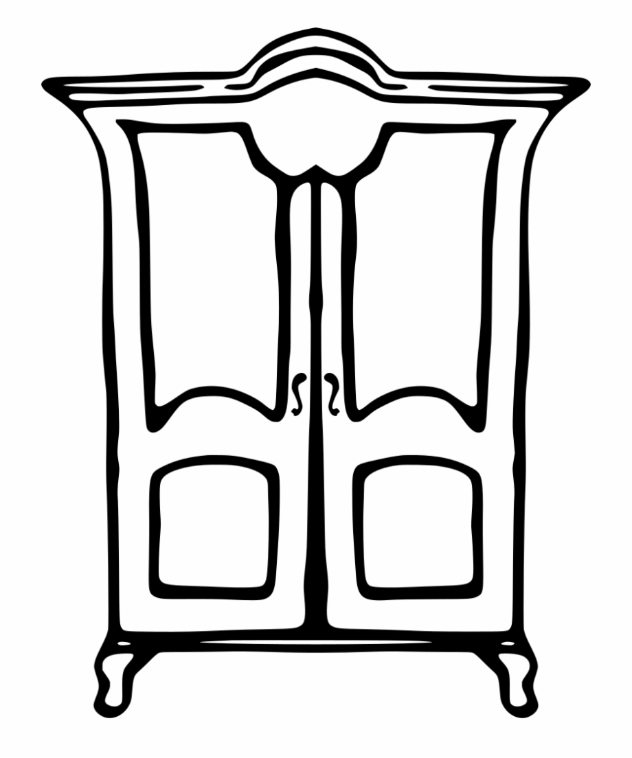 Closet clipart black and white. Cupboard transparent png download