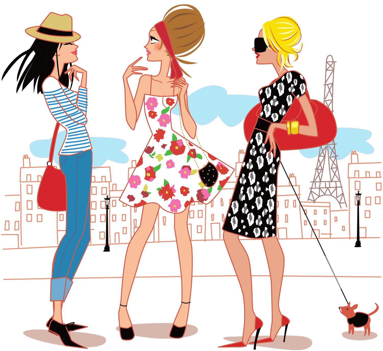 Fashion clipart personal stylist. Illustration de filles paris