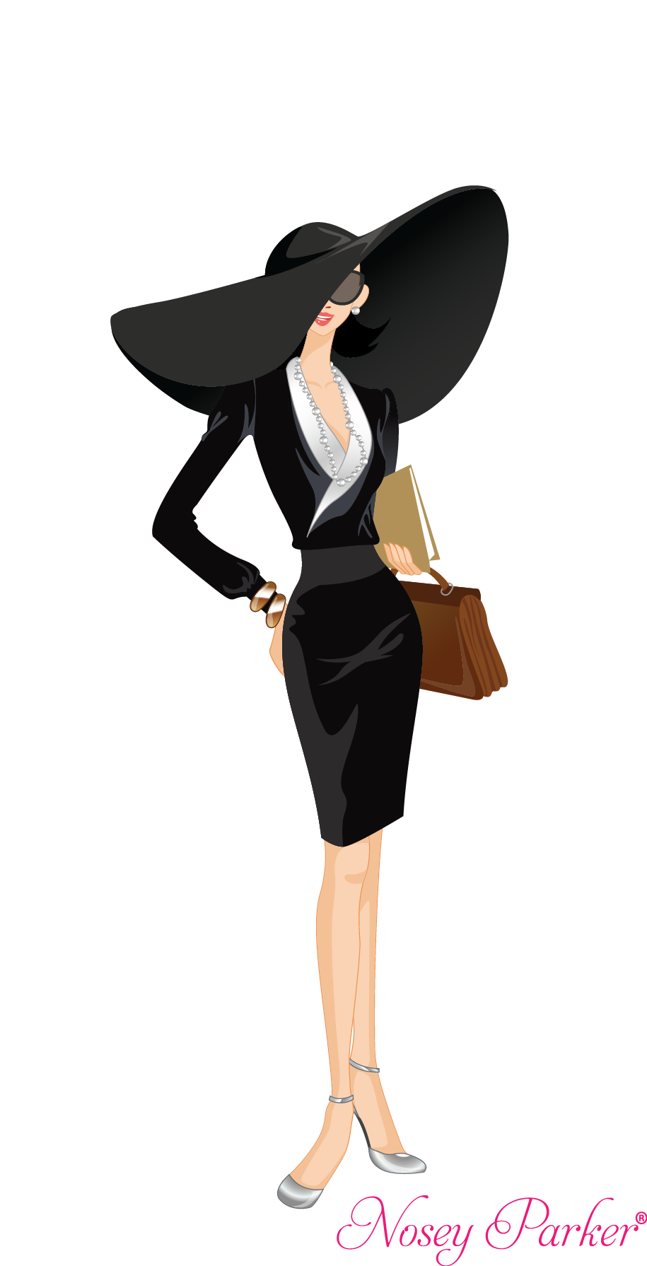 Pocket clipart clothes shopping. Nosey parker business woman