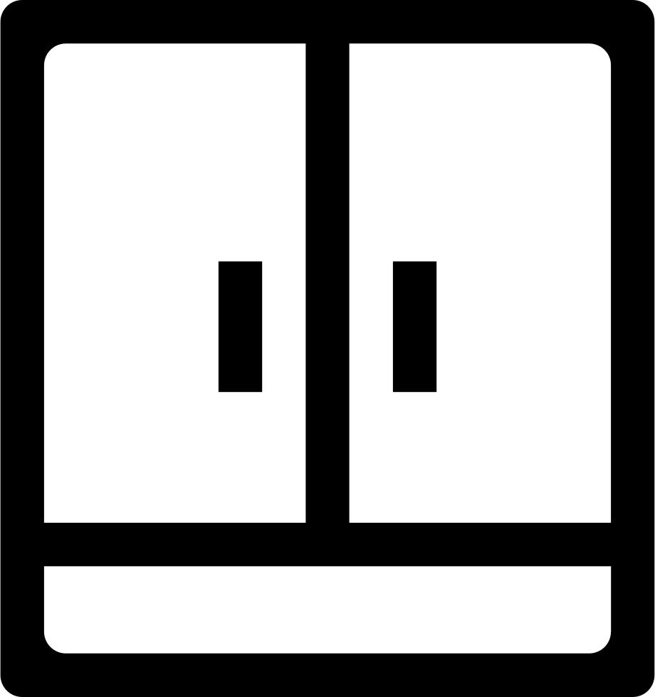 Outline svg png icon. Closet clipart empty closet