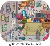 Hoarder clip art royalty. Garage clipart cluttered garage