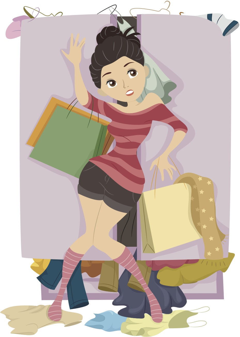 Too woman of interests. Closet clipart many clothes