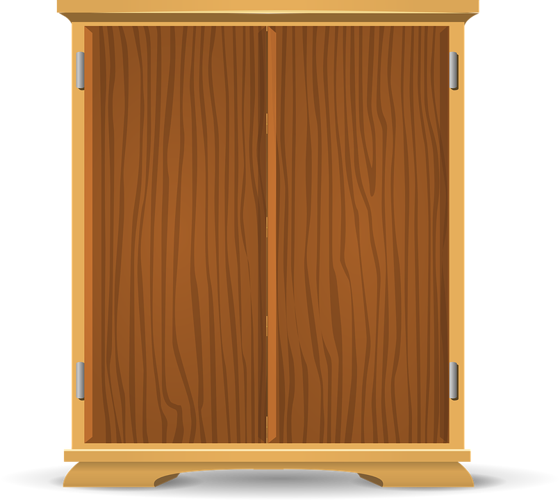 Cupboard closet view png. Furniture clipart almirah