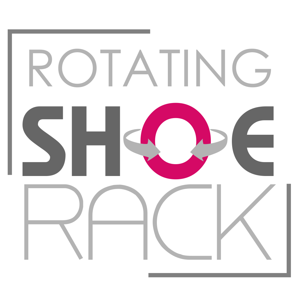 Rotating logo make up. Closet clipart shoe rack