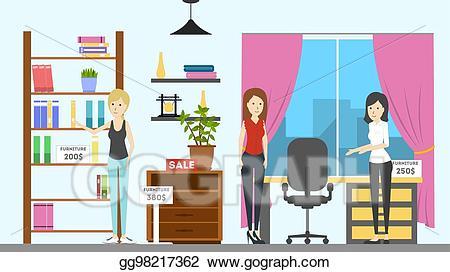 Eps illustration furniture interior. Closet clipart store room