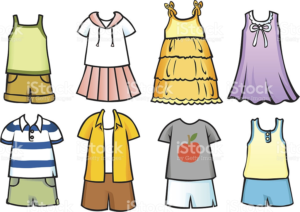 Clothes clipart. Summer season station