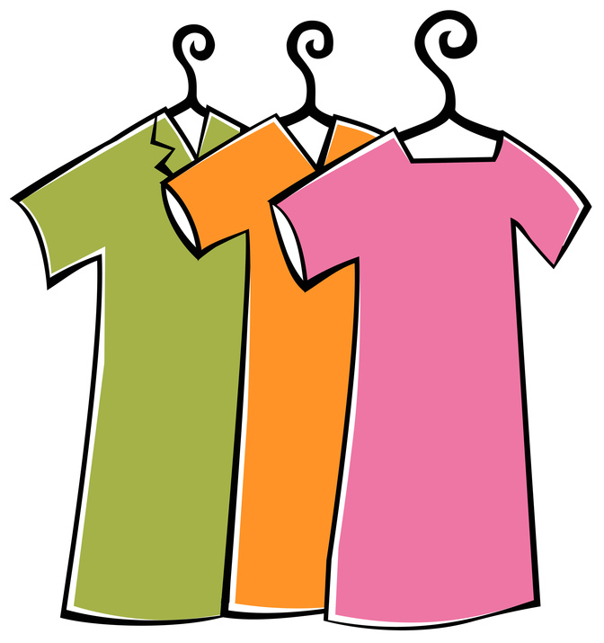 Colorful . Clipart clothes