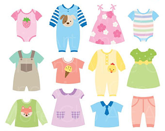 Baby etsy dress shower. Clothes clipart