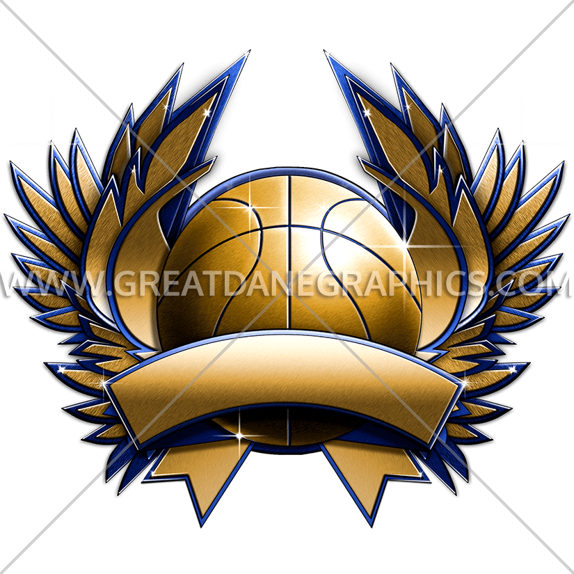Metal crest production ready. Clothes clipart basketball