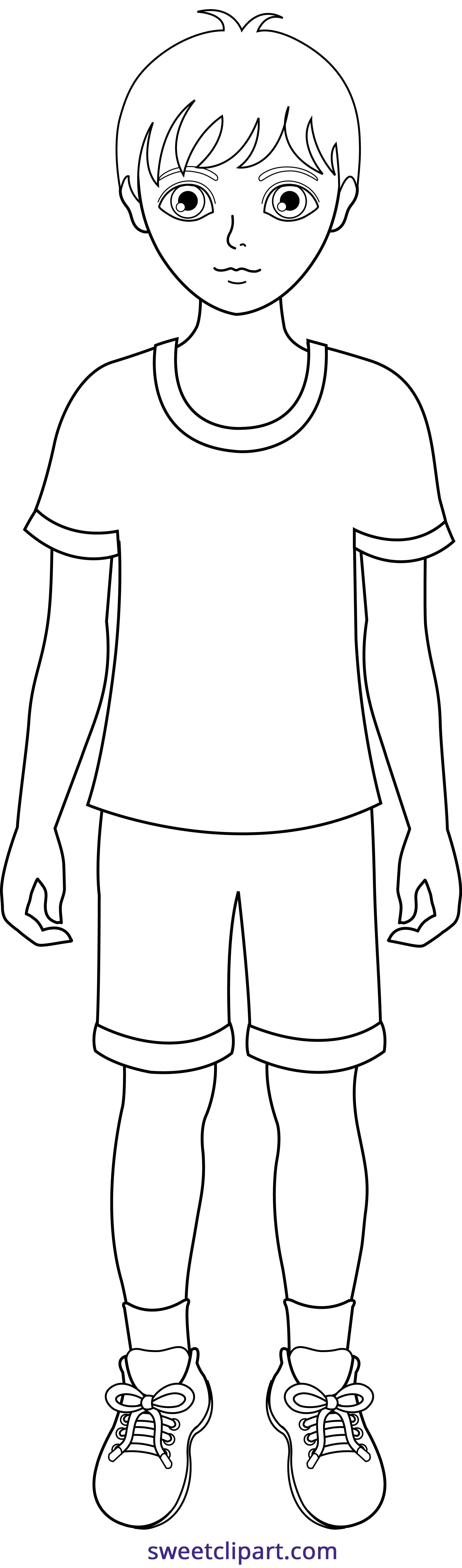 Little lineart sweet clip. Weight clipart boy