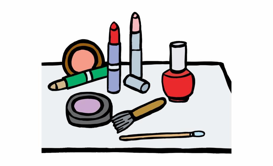 Clothes make up coloring. Makeup clipart makeup box