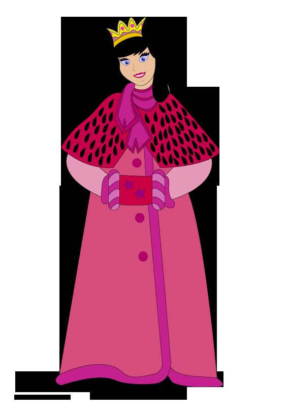 Raster in the winter. Design clipart princess
