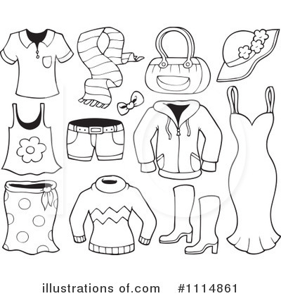 Illustration by visekart . Clothes clipart printable