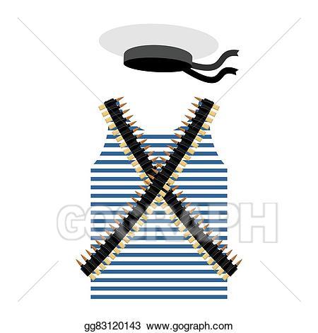 Clothes clipart sailor. Vector illustration striped vest
