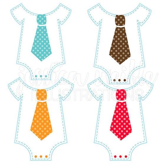 Clothes clipart tie. Fun onesie cute digital