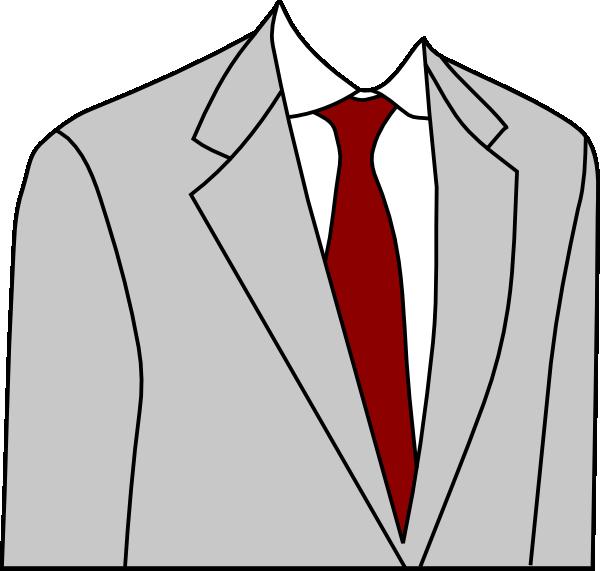 Clothes clipart tie. Light grey suit clip