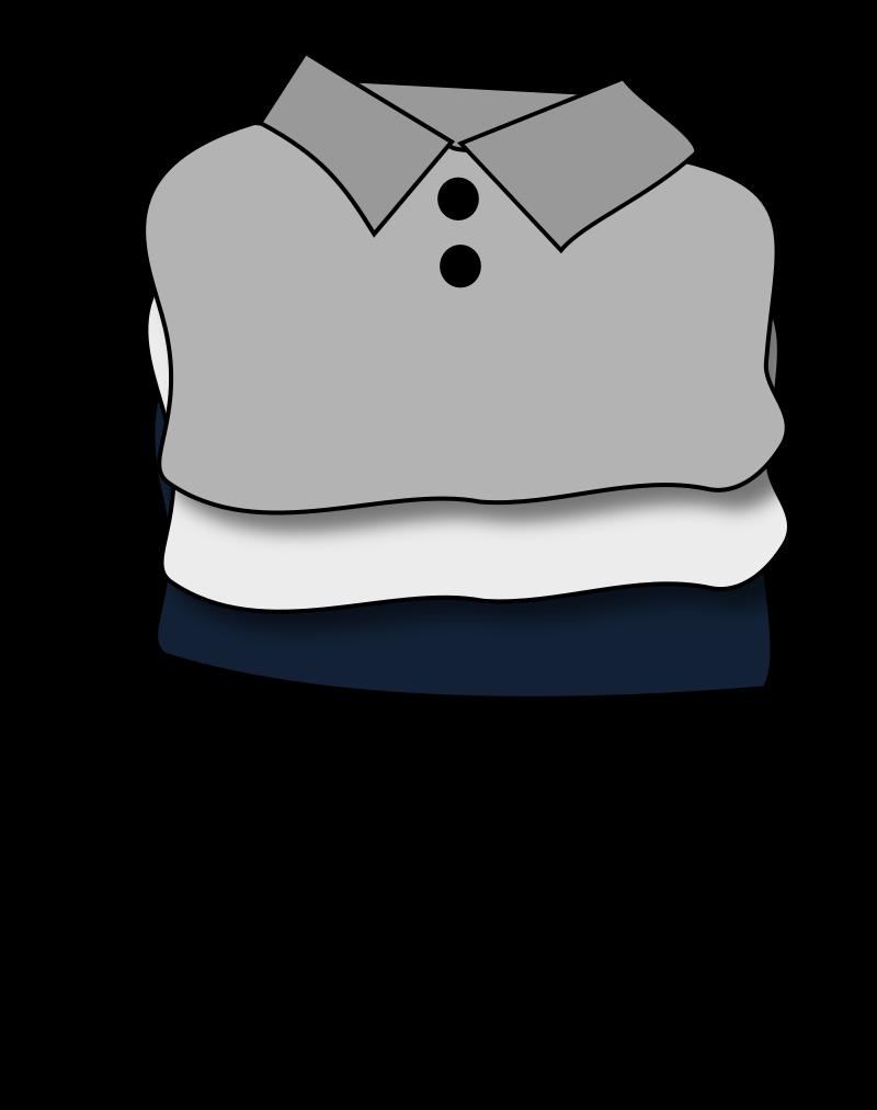 Clothes medium image png. Shirts clipart folded shirt