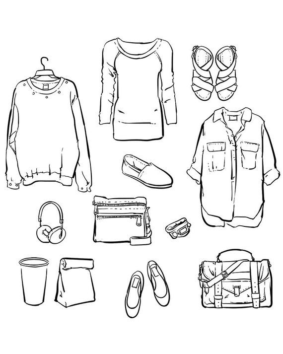 Clothes clipart women's clothing. Vector fashionable women s