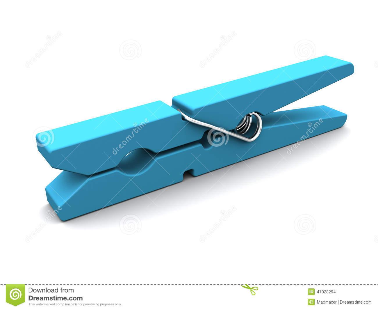 Blue . Clothespin clipart