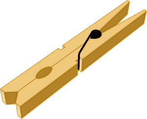 Clothes pin . Clothespin clipart