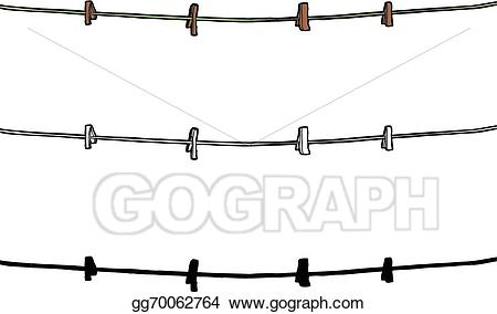 Eps illustration isolated vector. Clothespin clipart clothesline