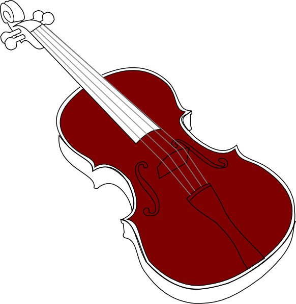 Violin clip art at. Filigree clipart music