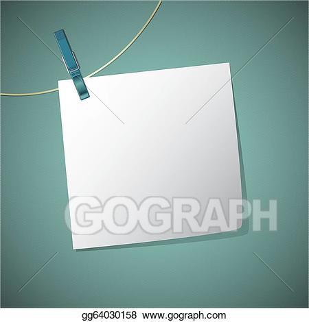 Clip art vector note. Clothespin clipart string