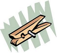 Free. Clothespin clipart