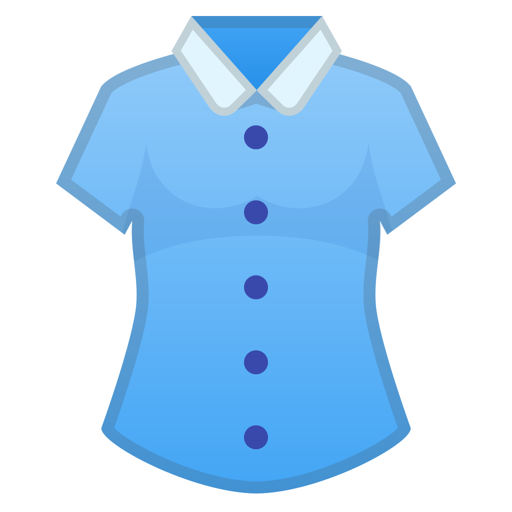 Clothing clipart blue object. Womans clothes icon noto