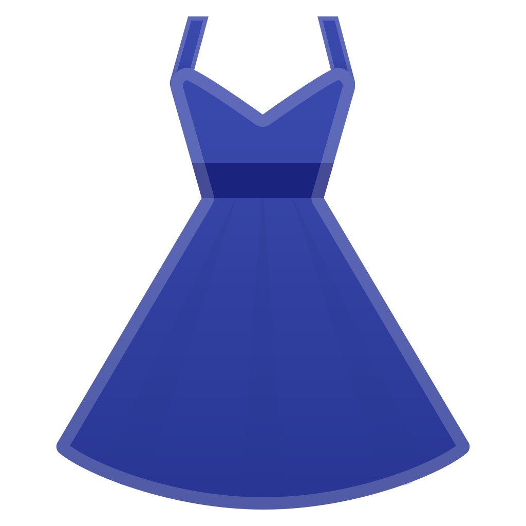 Clothing clipart blue object. Dress icon noto emoji