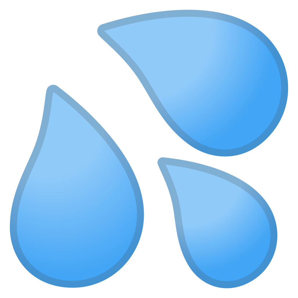 Sweat droplets icon noto. Clothing clipart blue object