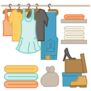Clothing clipart box clothes. How to pack designer