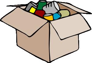 Carton full of socks. Clothing clipart box clothes
