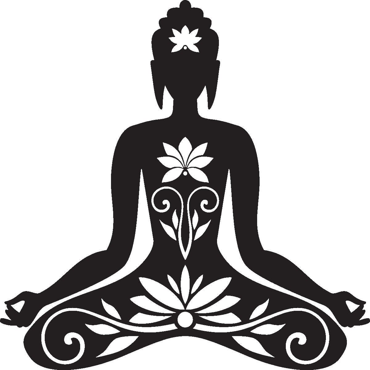 Clothing clipart buddhist. Sticker zen bouddha assis