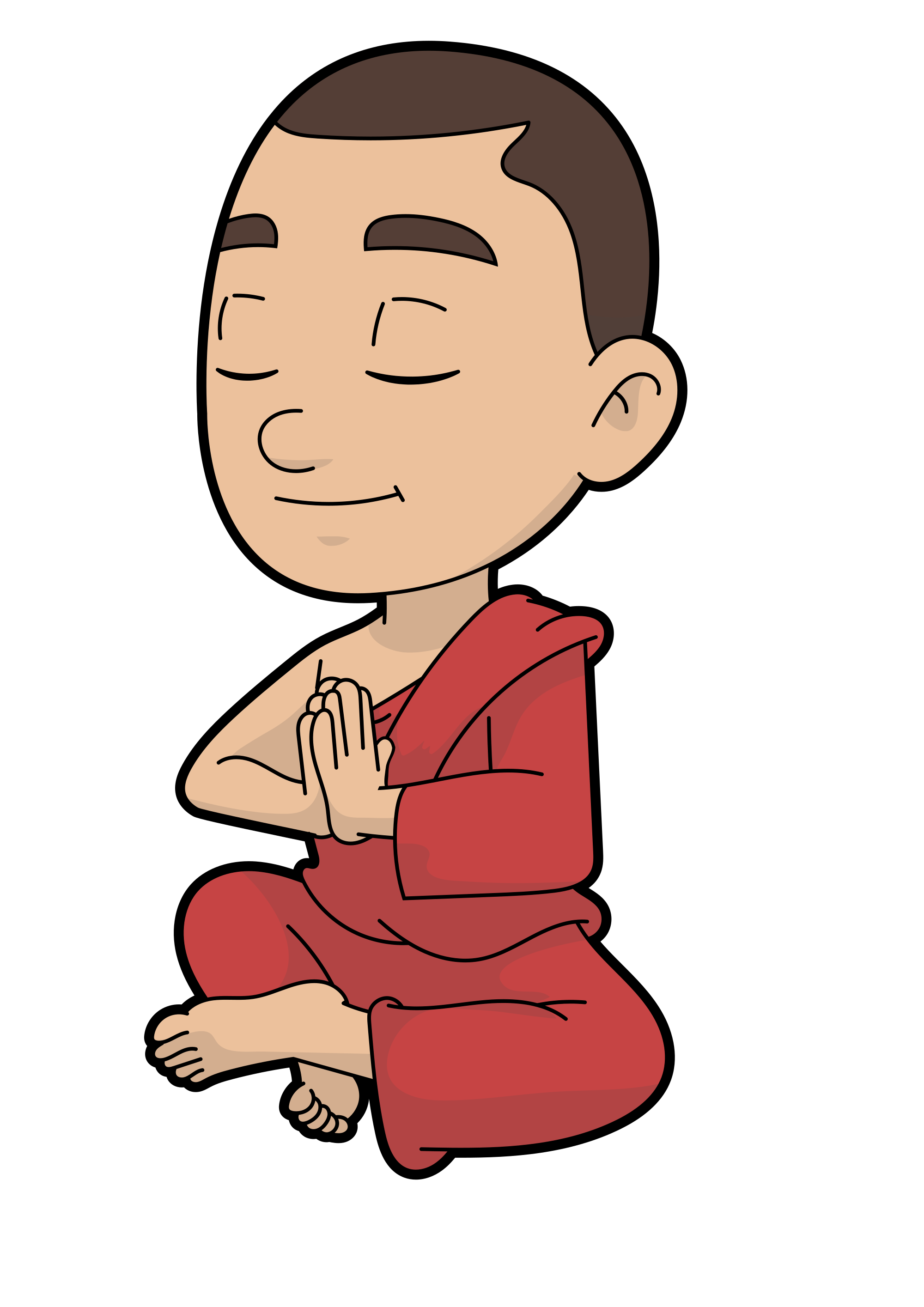 File cartoon monk in. Clothing clipart buddhist