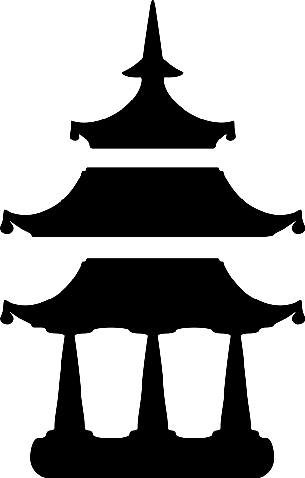 Greek clipart silhouette. Buddhist temple svg png
