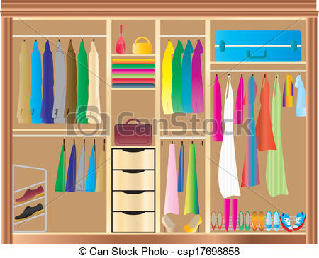 Clothing clipart closet full clothes.  clipartlook